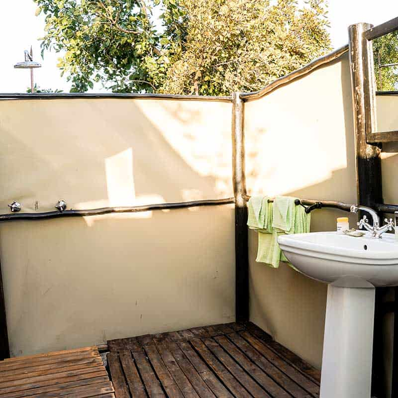 Little Vundu Camp Bushlife Safaris Rustic Shower