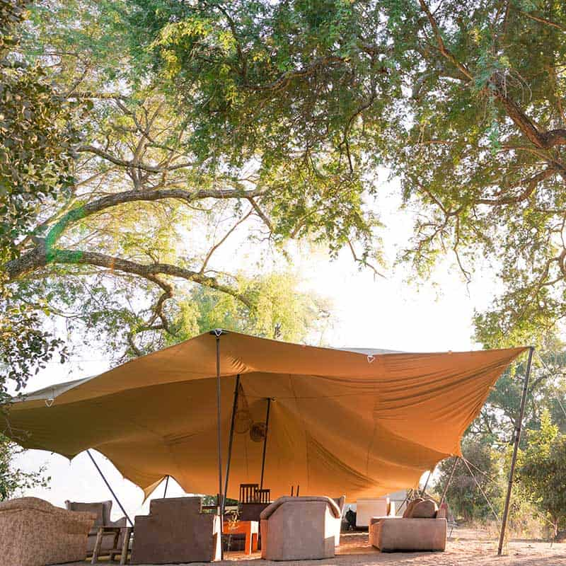 Little Vundu Camp Bushlife Safaris Trees Seating Area