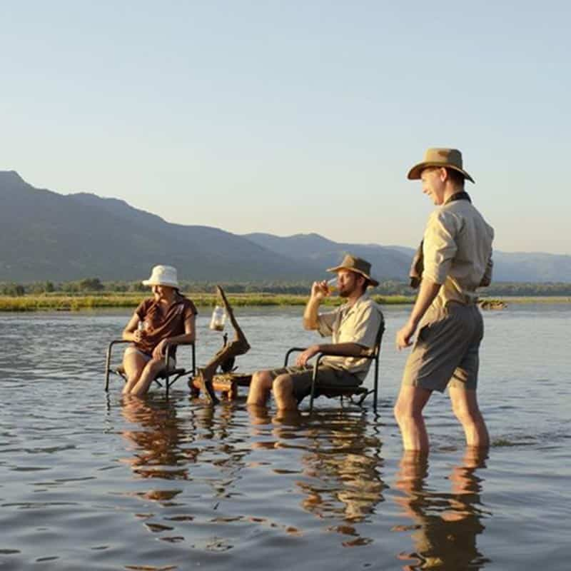 Ruwesi Canoe Trail Bushlife Safaris Sundowners