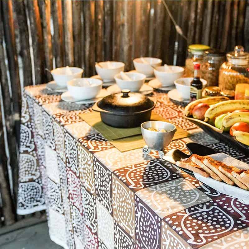Vundu Camp Bushlife Safaris Breakfast