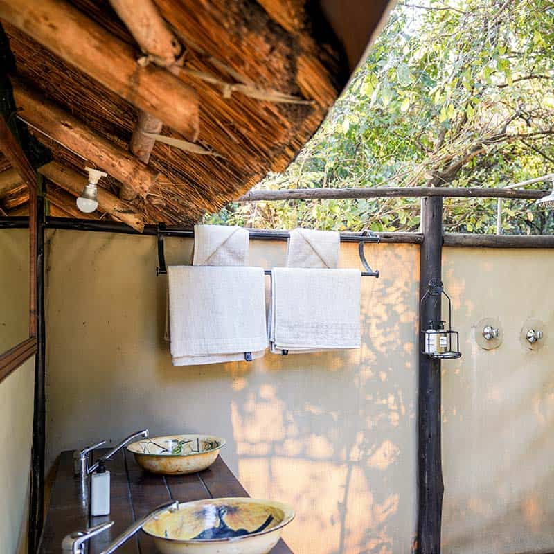 Vundu Camp Bushlife Safaris Open Air Showers