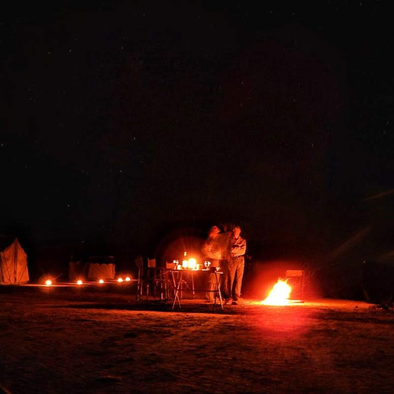 Drinks Under the stars Mana Pools - Mitch Riley Photography