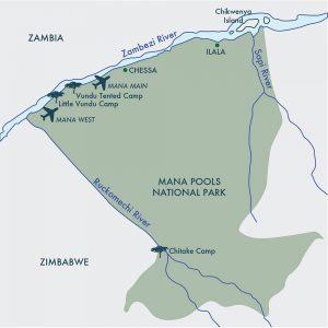 Mana Pools Camp Map